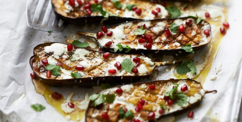 Grilled Eggplant with Tahini
