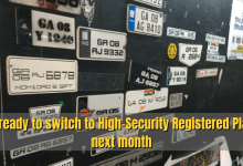 Photo of Get ready to switch to High-Security Registered Plates next month