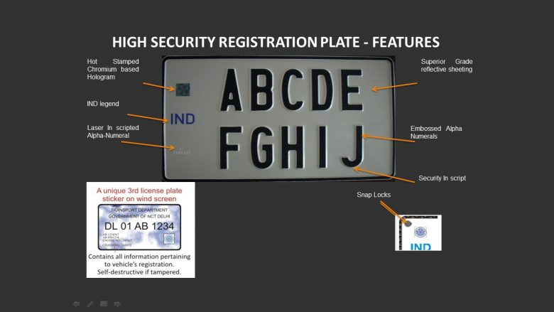 High Security Registered Plate