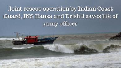 Rescue Operation by coast guard and Drishti