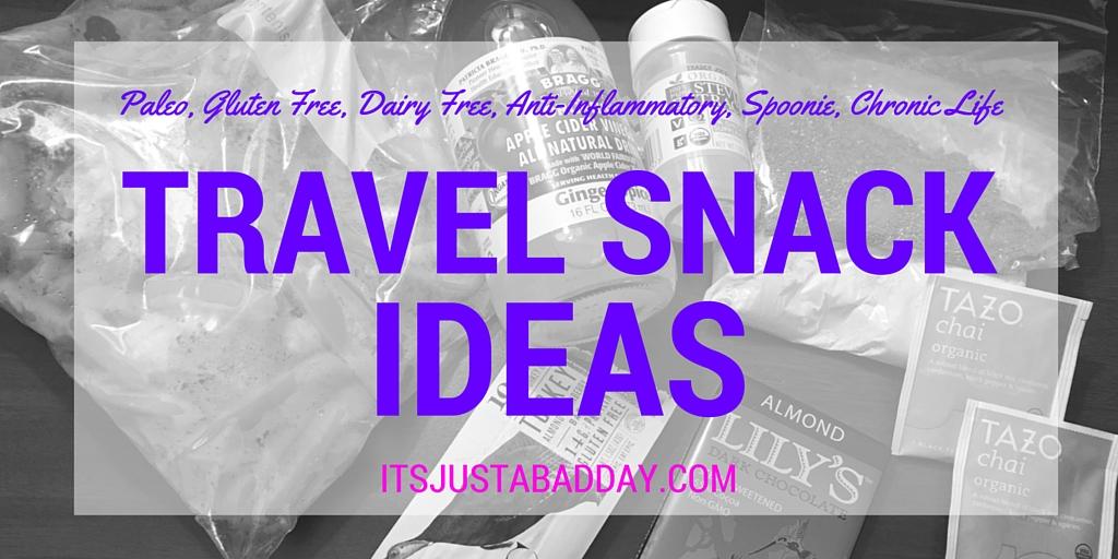 Paleo, Gluten Free, Dairy Free, Anti-Inflammatory Spoonie / Chronic Life Travel Snack Ideas   itsjustabadday.com juliecerrone.com