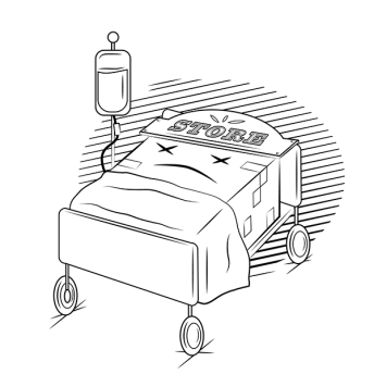 Store in hospital bed