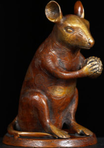 Image result for statue of a bronze rat