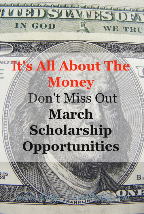 College should NOT be all about the money.  Scholarships are a great way to pay for college.  Don't miss out on these March scholarships opportunities, by clicking now!  No time, repin for later.