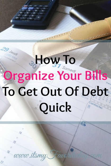 LOVE these tips to organize your bills.  So simple, exactly what you need if you want to pay off your debt quick.  You want to read this one now!  No time, make sure to repin!