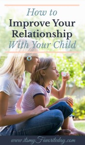 If your like me and always on the look out for ways to improve your relationship with your child, these tips are AWESOME! Love the focus on being intentional because our relationship with our kids really does matter most.