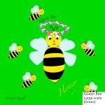 Queen bee, honeybee, bee, green
