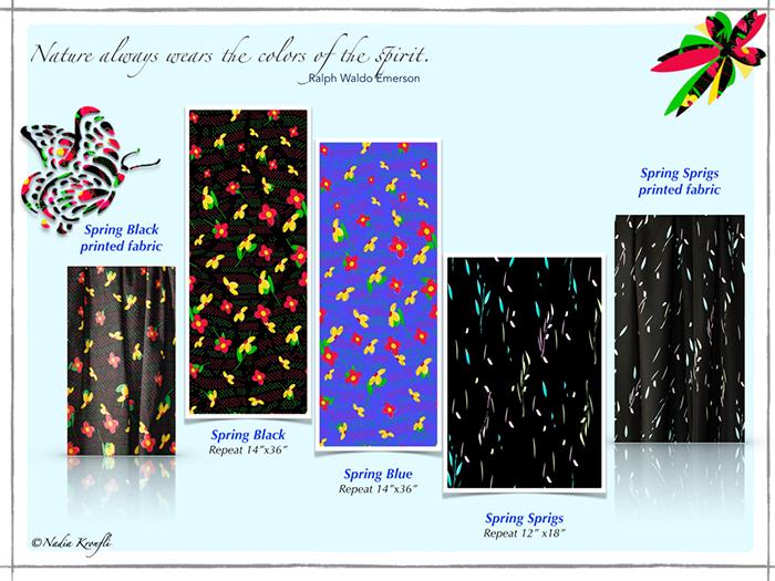 Floral pattern, cotton fabric, floral prints