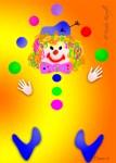 Nadia Kronfli, Clown, Children's, Birthday Card