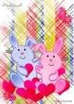 Bunnies, Children's Birthday, Greeting Card