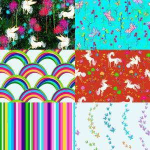 escape into an enchanted forestt of unicorns fairies & rainbows