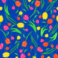 Pattern of colorful tulips