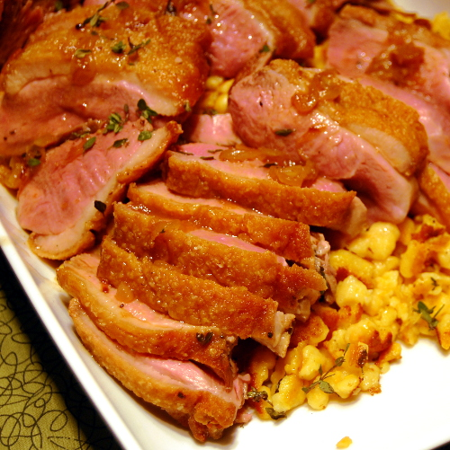 Best Chinese Duck Recipes: Crispy Duck Breast With Cider Sauce