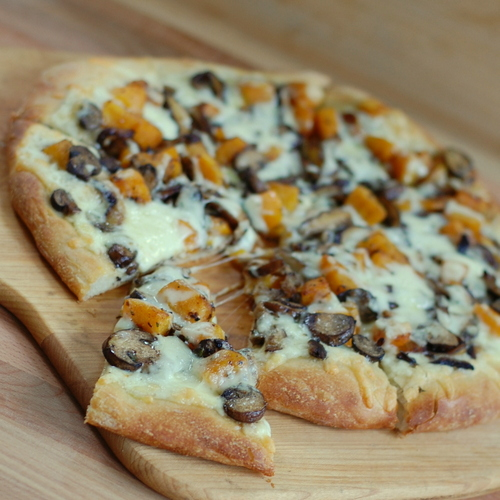 Wild Mushroom and Butternut Squash Pizza