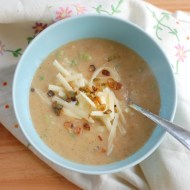 Potato Soup with Roasted Cauliflower