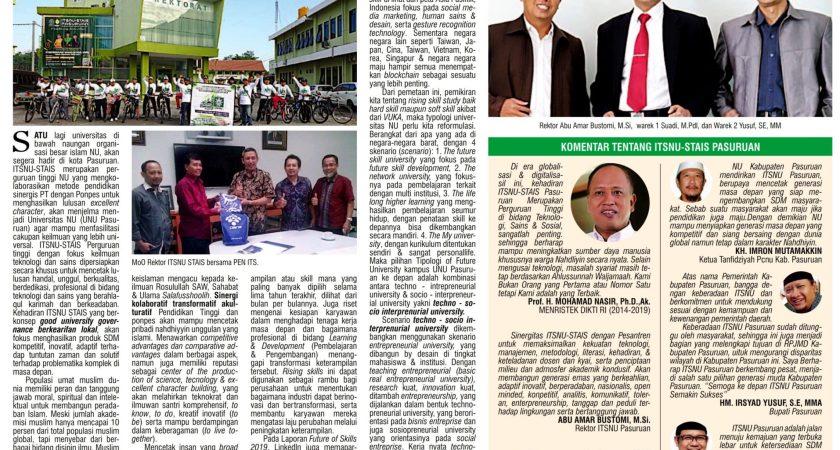 Optimis, ITSNU – STAI Salahuddin Pasuruan Menjadi Universitas Swasta NU Terbaik di Pasuruan
