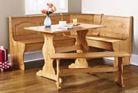 Breakfast Nook Dining Set Country Kitchen Table Booth ...