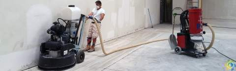 Polishing a Concrete Floor