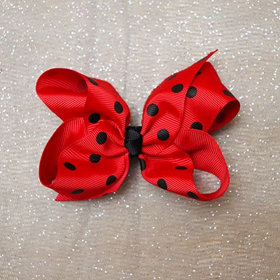 Red Polka Dot Boutique Bow