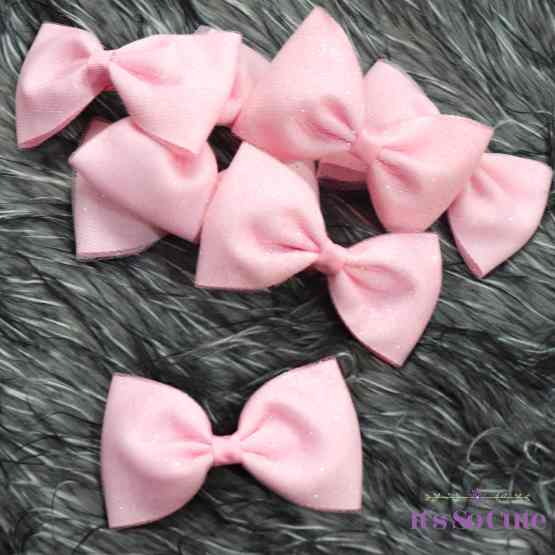 pink glittery bow, groups of bows, hair bows