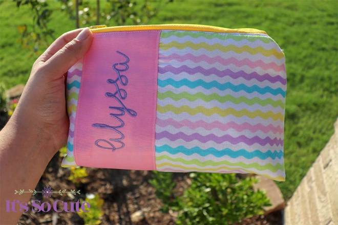 Personalized Rainbow Pouch, Zippered Pouch, Pencil Case, Personalized Gift