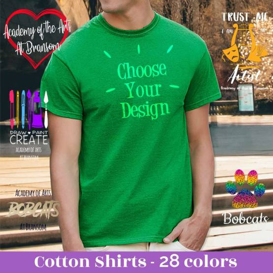 academy of the arts at bransom school shirts, school shirts, school spirit shirts, middle school shirts