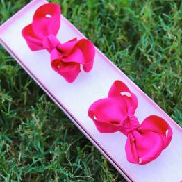 hot pink mini boutique bows, hot pink bows, little bows, mini boutique bows, boutique bows, mini bows, pigtail bows