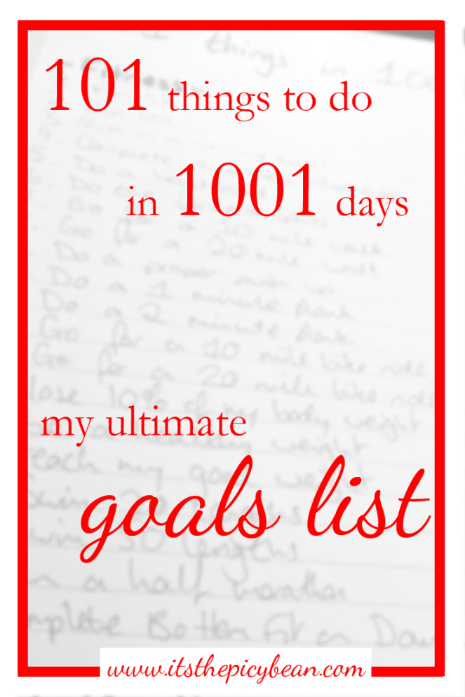 101 thing to to goals