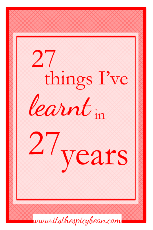 27 things in 27 years