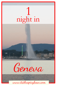 the spicy bean - one night in Geneva - www.itsthespicybean.com
