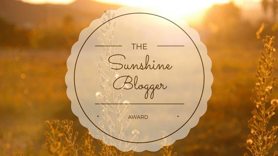 the sunshine blogger award part 1