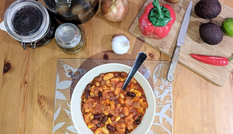 warming three bean chilli recipe