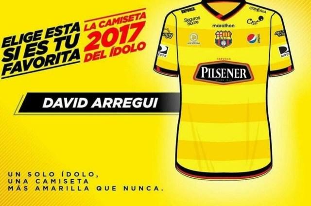 Diseño ganador para la camiseta oficial Barcelona S.C. - 2017, realizado por nuestro estudiante David Arregui. Redacción creativa y Dirección de arte.