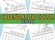 Printable Calendar for Kids 2018 - Itsy Bitsy Fun