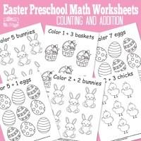 Easter Preschool Math Worksheets - Itsy Bitsy Fun