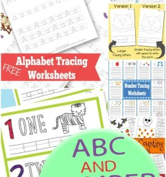 ABC and Number Tracing Worksheets - itsybitsyfun.com [ 1200 x 700 Pixel ]