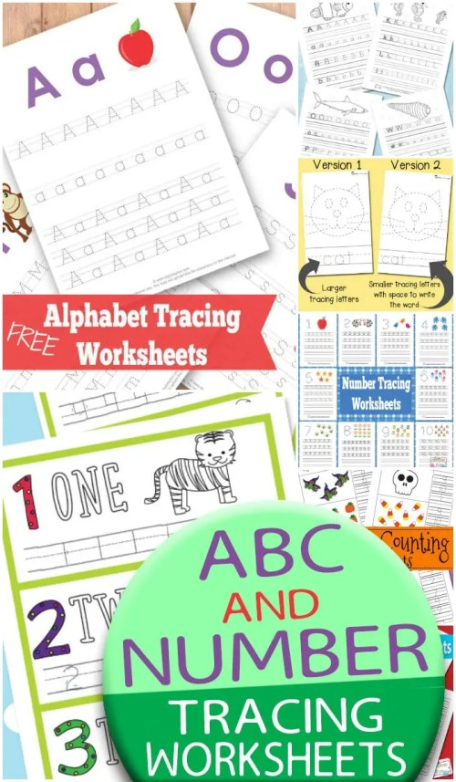 small resolution of ABC and Number Tracing Worksheets - itsybitsyfun.com