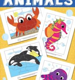 Ocean Animals Printable Puzzles for Kids - itsybitsyfun.com [ 1200 x 700 Pixel ]
