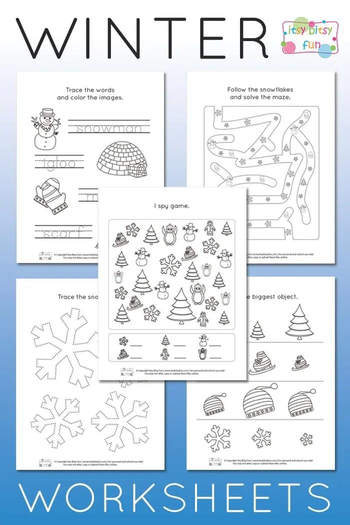 Free Printable Winter Worksheets For Kindergarten