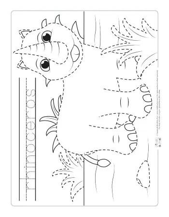 Safari and Jungle Animals Tracing Worksheets