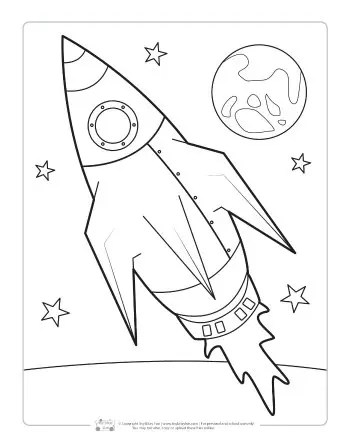 Space Coloring Pages For Kids Itsybitsyfun Com
