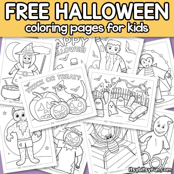 Halloween Coloring Pages For Kids Itsybitsyfun Com