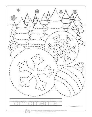 Christmas Tracing Worksheets Itsy Bitsy Fun