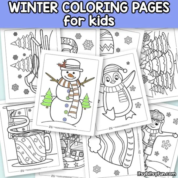winter coloring pages free printable # 11