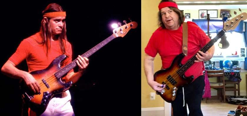 Skinny Jaco with the Bass of Doom, and fat Rob with Phat Jaco.