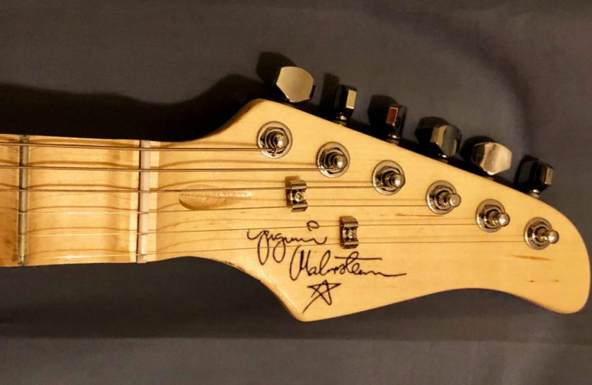 A replica of Yngwie Malmsteen signature graces the headstock!
