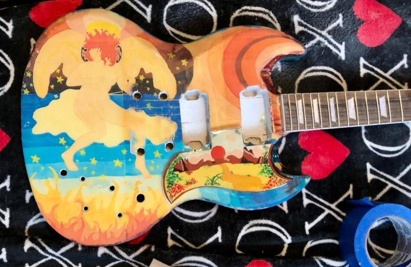 Fool guitar in progress