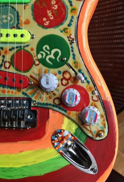 Rocky guitar controls