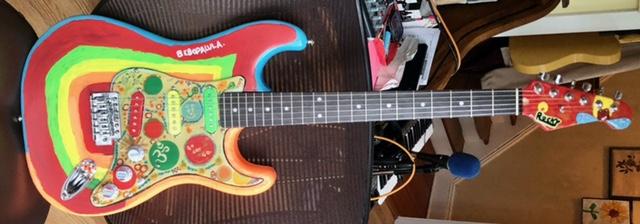Rocky replica guitar full 2
