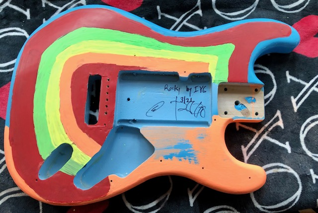 Rocky replica guitar in progress